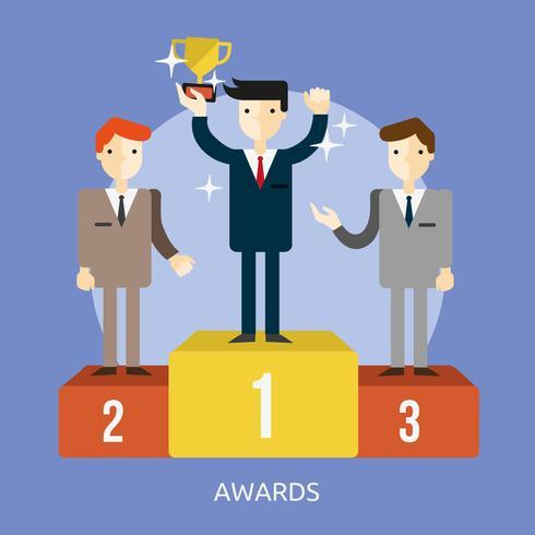 Ilustração conceitual de prêmios Design