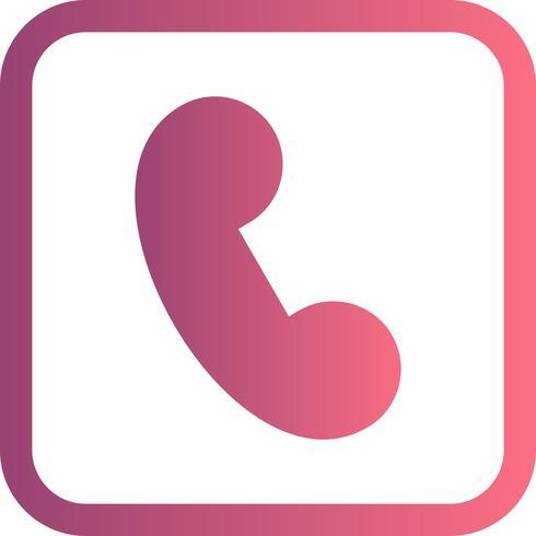 Icono de vector de llamada
