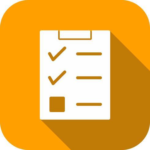Vector Checklist Icon