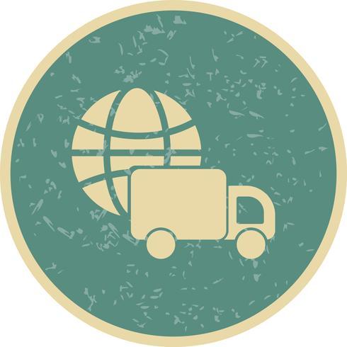 Vektor-Symbol für globale Lieferung