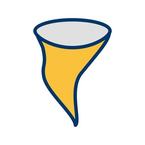 Icono de vector de tornado