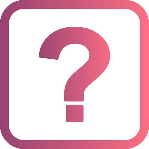 Ponto de interrogação, vetorial, ícone