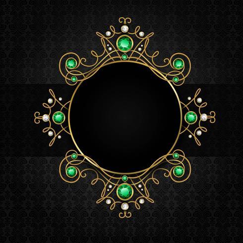 Smycken svart ram vektor