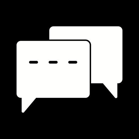 Vektor konversation Ikon