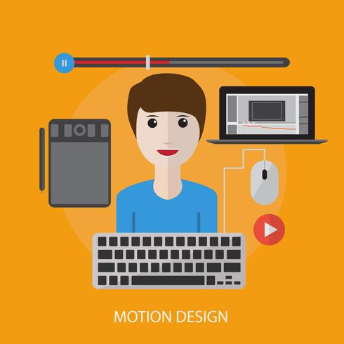 Motion Design konzeptionelle Darstellung Design vektor