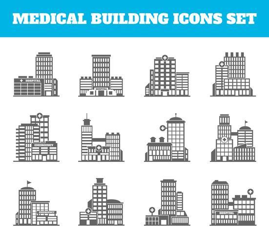 Edifício médico preto