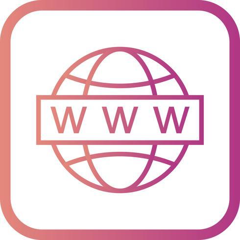 Ícone de pesquisa da Web de vetor