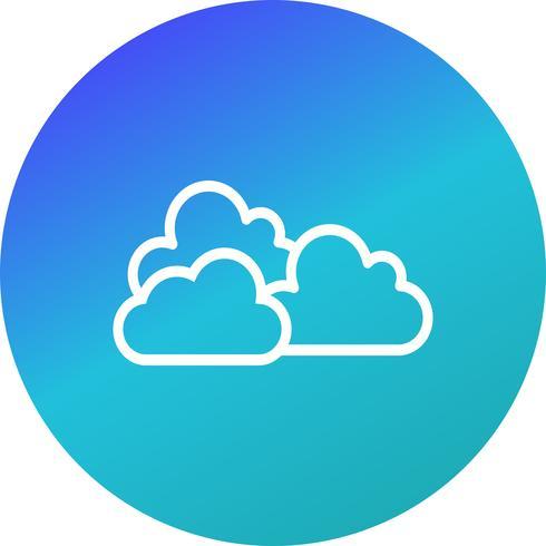 Icona di vettore nuvoloso