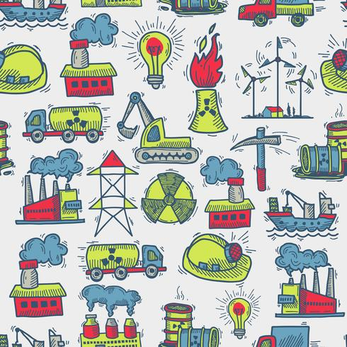 Industriell skiss sömlösa mönster