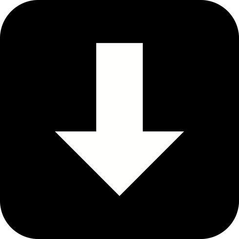 Baixo, vetorial, ícone