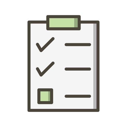 Vektor checklista ikon