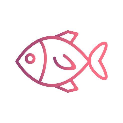 Icona di pesce vettoriale