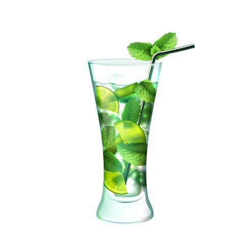 Mojito Cocktail realistisch vektor