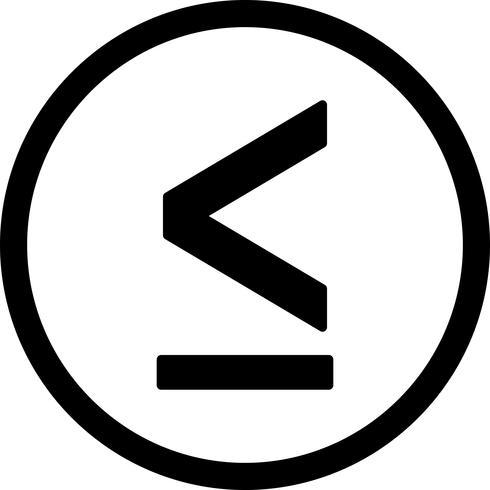 Menos ícone Vector