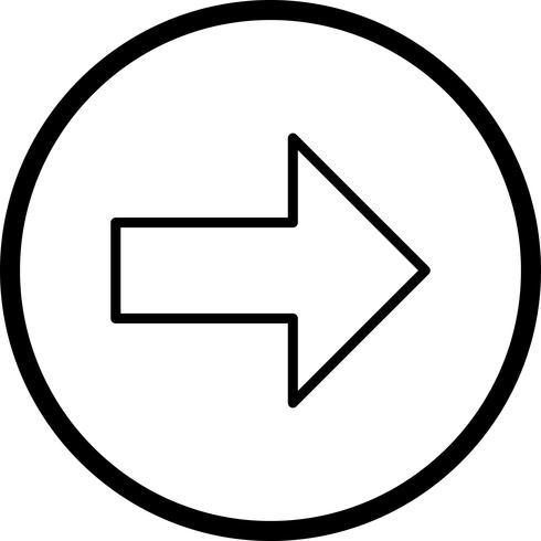 Icona di vettore a destra