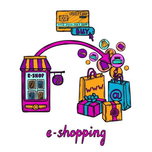 E-commerce design concept vector