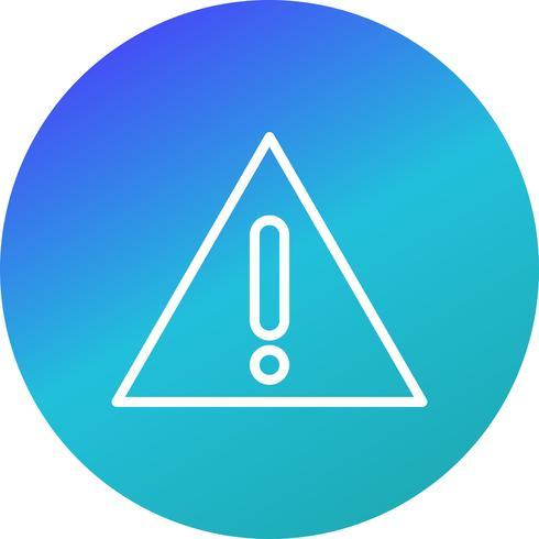 Placa de advertência Vector Icon