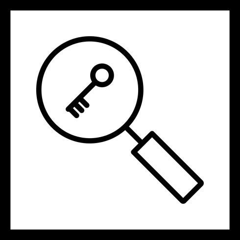 Icona di ricerca di parole chiave vettoriale