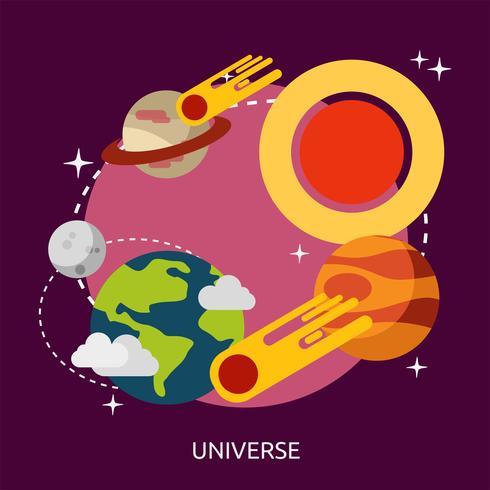 Disegno dell'illustrazione concettuale dell'universo