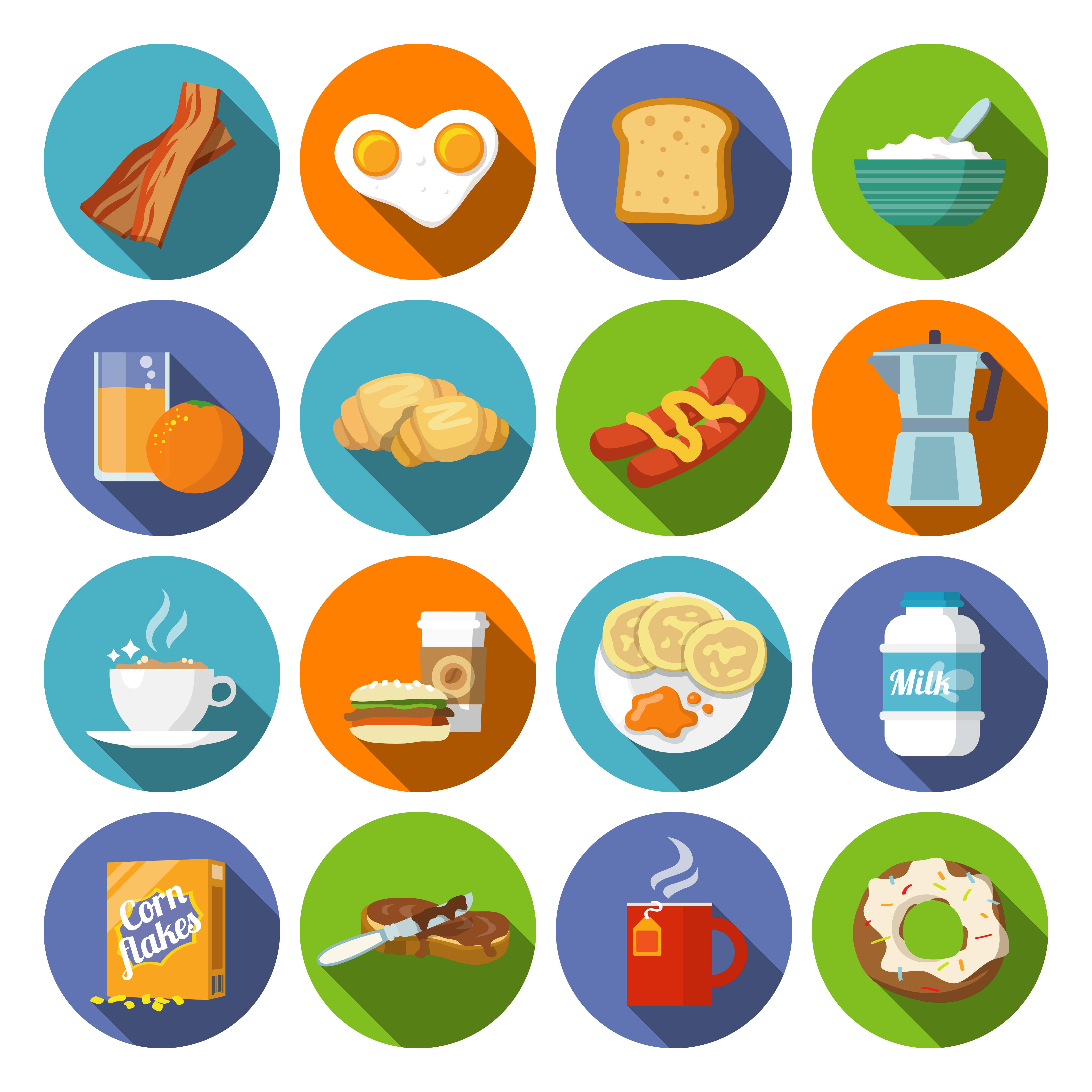 Breakfast Icon Flat 443084