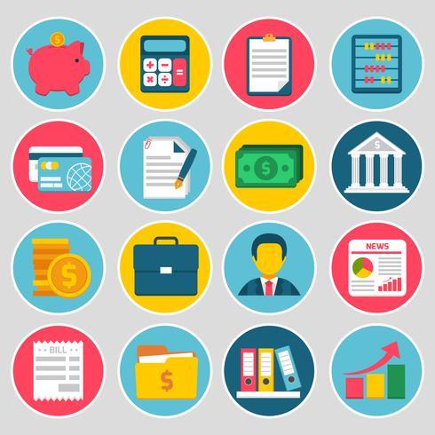 Conjunto de ícones de contabilidade vetor