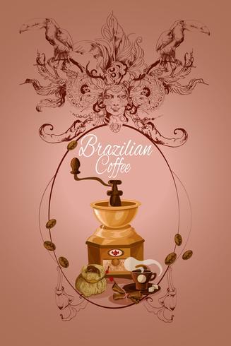 Affiche de café brésilien