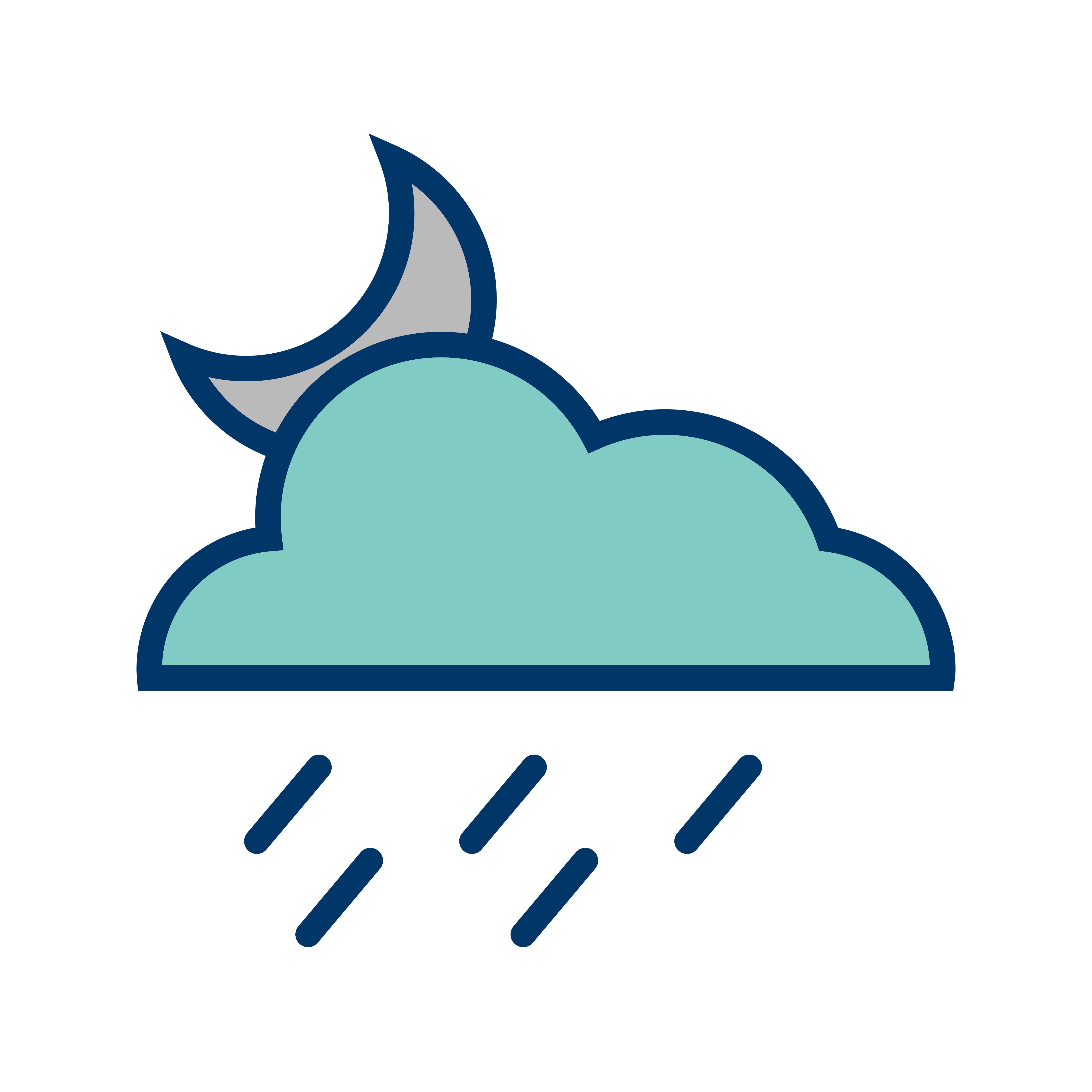 Night Rain Vector Icon - Download Free Vector Art, Stock ...