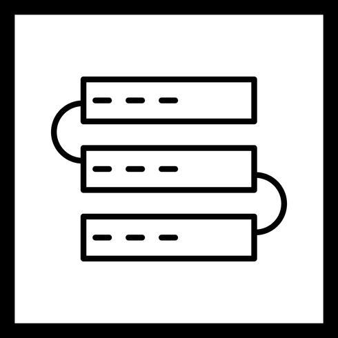 Ícone de servidores de vetor
