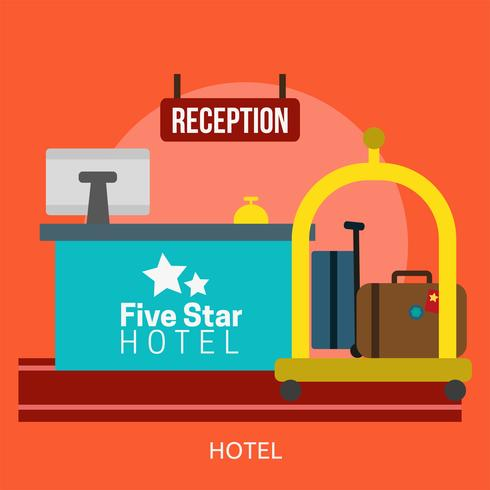 Hotel Conceptual illustration Design vector