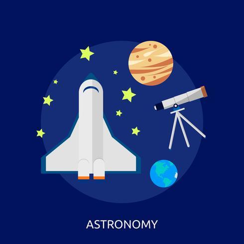 Disegno dell'illustrazione concettuale di astronomia