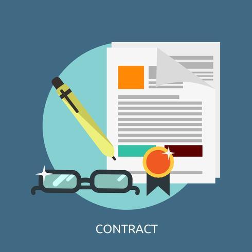 Contrato Conceptual Ilustración Diseño vector