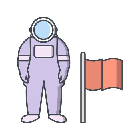 Homem, com, bandeira, vetorial, ícone