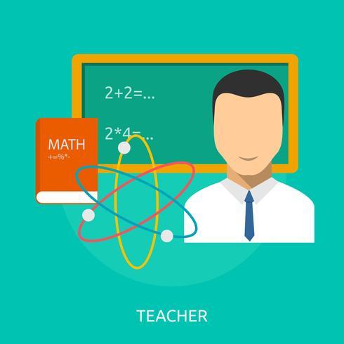 Ilustração conceitual de professor Design