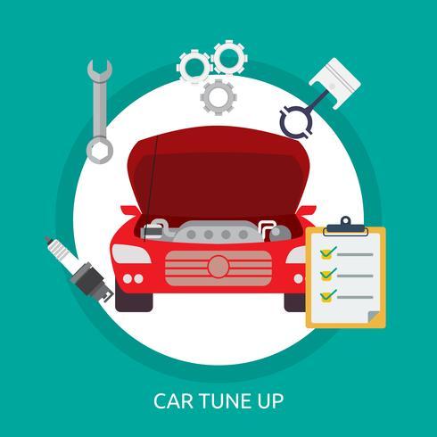 Car Tuneup Illustration conceptuelle Design