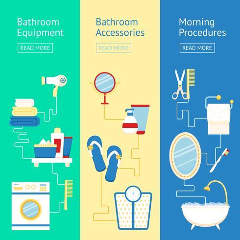 Conjunto de banners de baño