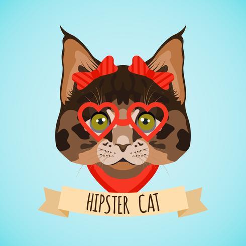 Retrato de gato inconformista