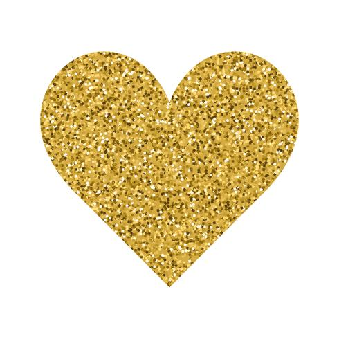 Glitter Valentines Day love heart on a white background.