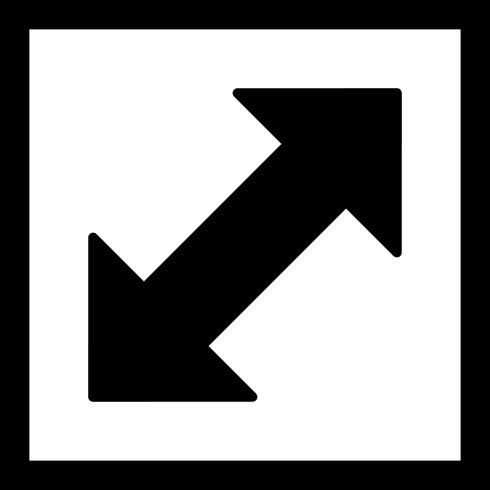 Ícone de vetor de seta dupla