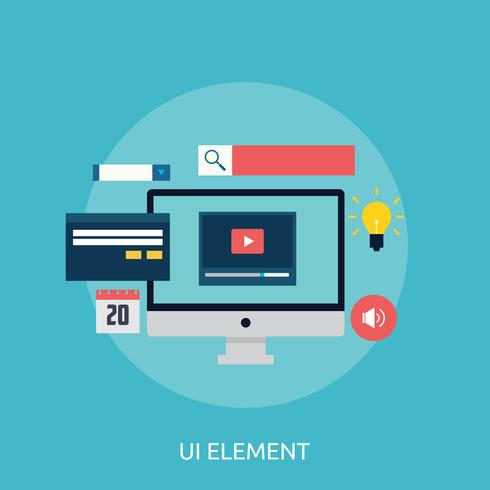 UI Element Conceptual illustration Design