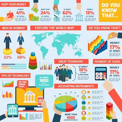 Conjunto de infografías contables.