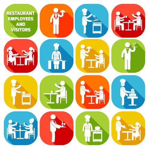 Dipendenti del ristorante bianchi vettore