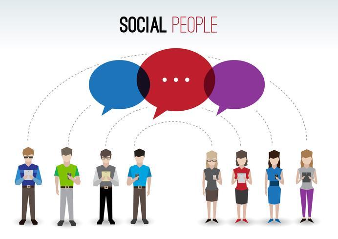 Concepto de personas sociales vector