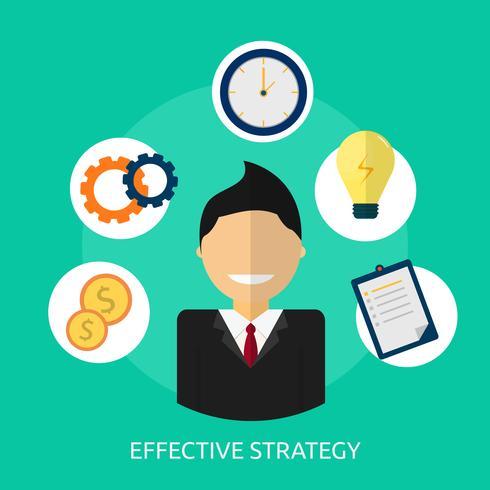 Estrategia efectiva Ilustración conceptual Diseño vector