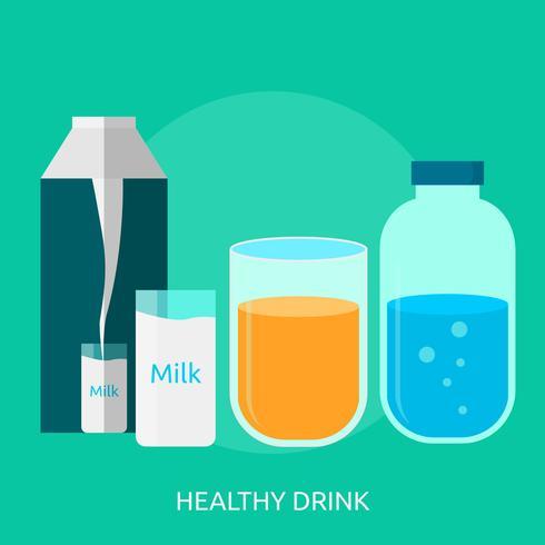 Hälsosam Dricka Konceptuell Illustration Design