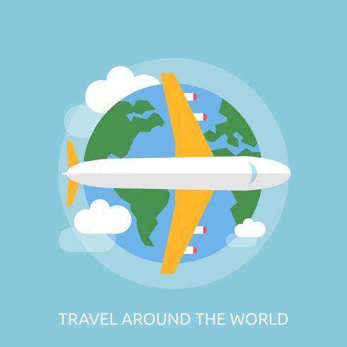 Viaggi intorno al mondo illustrazione concettuale Design
