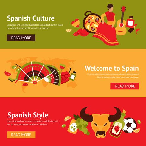 Conjunto de banner de Espanha