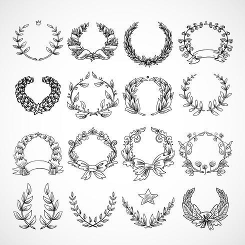 Conjunto de iconos heráldico corona