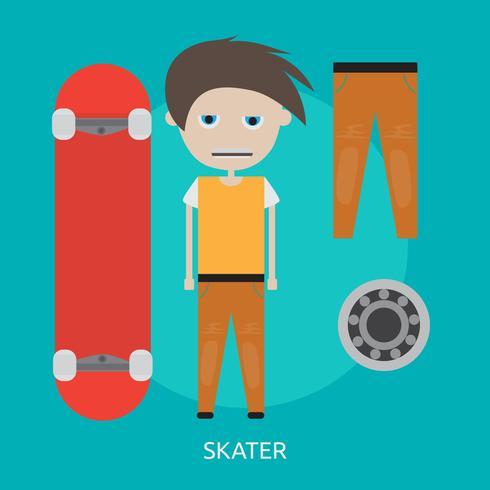 projeto de ilustração conceitual de skatista