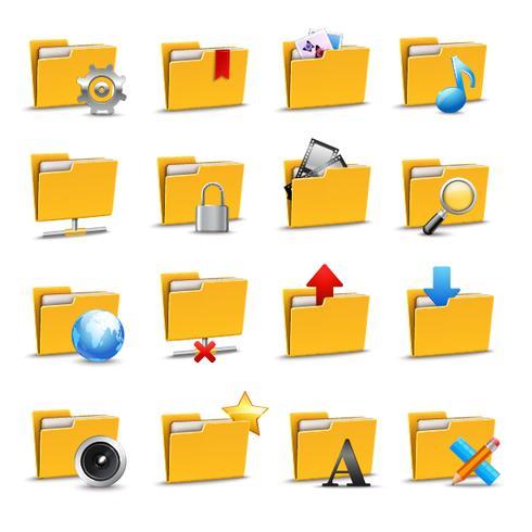 Inställningar för mappar ikoner