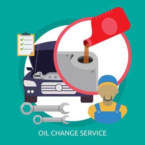 Oljebyte Service Konceptuell illustration Design